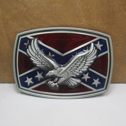BuckleHome rebel belt buckle with eagle FP-01218 with pewter finish and antique brass finish free shipping