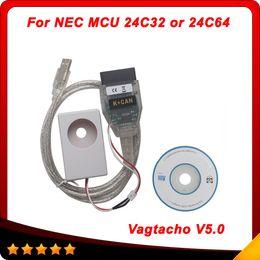 Wholesale 2016 USB Vagtacho USB Version V5 Vag tacho VAG OBD2 Diagnostic Tool For NEC MCU C32 EEPROM IMMO PIN Mileage Correction