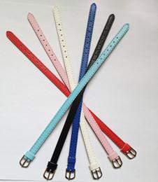 Wholesale 50PCS Lot 8MM High Quality PU Leather Wristband Bracelet DIY Accessory Fashion Wristband Fit 8MM Slide Letter Slide Charms WB02-1