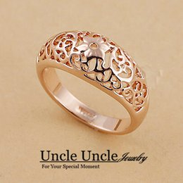Wholesale 18K Rose Gold Plated Erstwhile Memory Element Totem Retro Carving Design Lady Finger Ring krgp