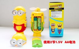 Wholesale The new super small yellow people wind mini fan portable fan students a small hand held fan cartoon type