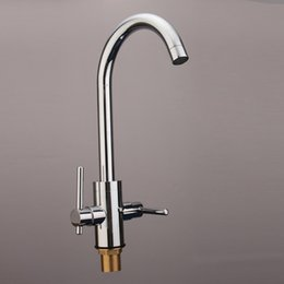 Wholesale Top Quality Double Handles Kitchen Rotating Basin Sink Spouts Tap Bathroom Faucet Kitchen Mixer Hot Cold Water Outlet