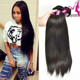 Wholesale Brazilian Virgin Hair Straight Hair Weave Bundles 3 or 4Pcs 7A Unprocessed Virgin Brazilian Straight Cheap Human Hair Extensions