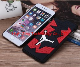 Wholesale 3D Jordan sneakers Sole PVC Rubber Cover For iPhone Plus Jump man Phone Case for iphone plus