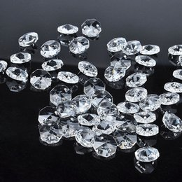 Wholesale 50pcs sparkle mm DIY Octagon Beads Clear Chandelier Crystal Beads Ornaments Wedding Party Banquet craft Supplies wa138