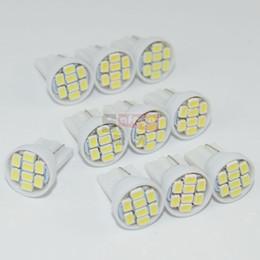 Wholesale Super Led W5w - 10pcs super bright 12v t10 8smd 1206 3020 w5w t10 led t10 w5w led car led dome light