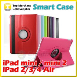 360 Degree Rotation Smart Stand PU Leather Case Cover For Apple ipad pro air 2 mini 4 Retina Galaxy Tab 4 S2 T230 T330 T530 T715 T810