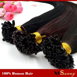 "XCSUNNY 18"" 20"" 100g U Tip Hair Extensions Human 1g s Indian 100% Indian Virgin Human Hair Keratin Fusion Hair Extensions"