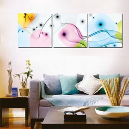 3 Pieces no frane Free shipping Home decoration on Canvas Prints chinese characters Bamboo tulips flower fish peony tree Abstract art fish