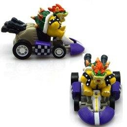 Wholesale Stock Ready New Super Mario Bros quot Kart Pull Back Car Figure PVC Action Figures Best Kids Christmas Gifts