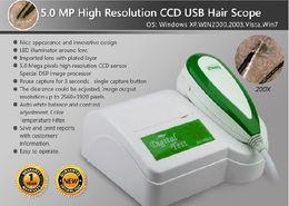 Free Shipping 5.0 MP High Resolution CCD USB Hairscope, Hair Analyzer, Hair Care(900U)