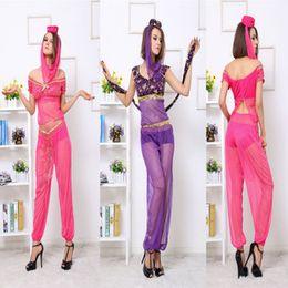 Wholesale Newest Indian Women Belly Dance Dress Aladdin Arab Lady Beautiful Gauze Costume Veil Headwear Underwear Indian Sari