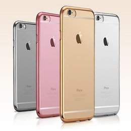 high quality new Soft TPU silicone Case Ultra Thin Transparent Clear Crystal Rose Gold Electroplating Plating Case for iphone 6 6s plus