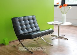 Wholesale Barcelona chair Barcelona chair leather sofa chair IKEA Single European creative designer chair