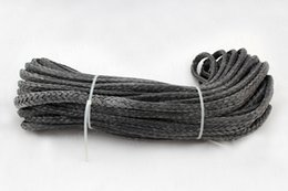 Wholesale 6MM M Strand Braid SL Dyneema fiber Synthetic Winch Rope use for ATV UTV SUV X4 WD