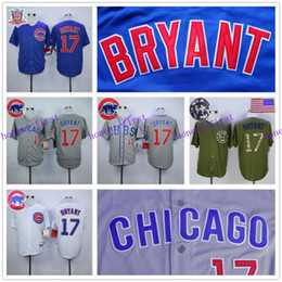 Wholesale Kris Bryant Jersey Cheap Chicago Cubs Baseball Jersey Stitched High Quality Beige Blue Gray Green White