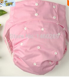 Wholesale baby Washable Waterproof pink Adult cloth diaper pants diapers covers large for men incontinence nappy insert