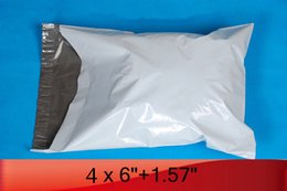 """Wholesale-white poly mailer 4"""" x 6"""" 102mm x 153mm+40mm SELF SEAL POLY MAILER BAGS ENVELOPE[900pcs]"""