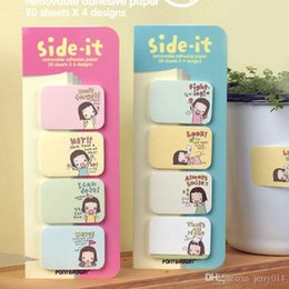 Fashion Lovely Stationery Stationary Side Sticker Memo Pad Sticky Notes Office School Supplies Random Colors OSS-0047