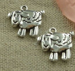 Wholesale Fashion Antiques Silver sheep Charms Pendants DIY Making Metal Jewelry Accessories x16mm