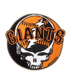 Wholesale San Francisco Giants Grateful Dead Music Band Heavy Metal Iron On Sew On Patch Tshirt TRANSFER MOTIF APPLIQUE