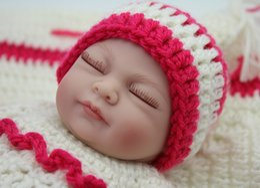 Wholesale Soft Full Silicone Baby Reborn Girl Sleepy Lifelike Vinyl Mini Child Love Dolls Little Mommy Baby Toy Christmas Gift