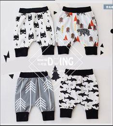 Wholesale 4Designer Boys Girls Pants Capris Children Summer Pants Toddler Girls Boys Pants batman whale bear arrow Pattern Kids