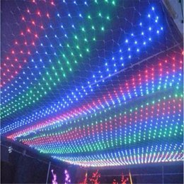 Rgb led net en Ligne-UK! Meshwork 3mx2m 6W LED Net chaîne lumières de Noël DEL d'éclairage Cordes pour Party Decoration vacances de Noël Flash Light