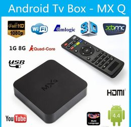 Wholesale Online Update MXQ MXG MXS TV BOX Amlogic S805 Quad Core Android Airplay TV Channels Programs Media Player KODI14 Rooted