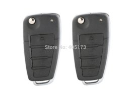 Good quality car burglar alarm system with central door lock locking keyless entry remote trunk release & flip key FOB M39355