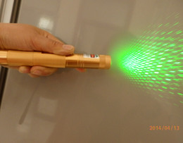 Golden 532nm green laser pointer match Leisure Push button switch 5000-10000 meters green lazer Nice Christmas present