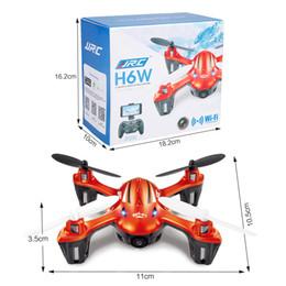 2016 meilleurs drones de la caméra F16763 JJRC H6W 2.4G 4CH 6-Axis Gyro RC Quadcopter Wifi FPV vidéo en temps réel Transmission Headless Drone avec caméra 2.0MP HD LED meilleure Sellin promotion meilleurs drones de la caméra