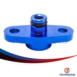 Wholesale PQY RACING Fre shipping NPT Fuel Rail Pressure Regulator Adapter Blue for NISSAN TOYOTA SUBARU PQY FPA12
