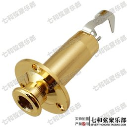 Wholesale Brass electric guitar sockets suspender buckle guitar faucets bass output jacks electric box guitar sockets