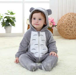 New Style 2019 AutumnToddler Babies Clothing Two Colour Flannel Cartoon Style Baby Romper One Piece Infant Jumpsuits Fit 0-3Year 70-100 T889