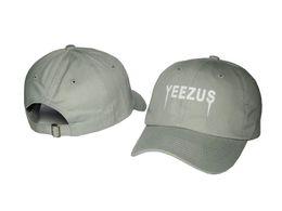YEENZO YEEZUS grey Brand New Cotton caps ,Distressed Baseball Cap For Women's or Men's Vintage Bone Cheap Gorra Adjustable Casquette PPMY