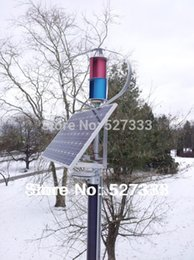 Wholesale High Power w Vertical axis wind generator windmill wind turbine w wind solar hybrid controller w w solar panel