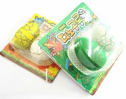 Wholesale-Funny Cracks Soaked Dinosaur Eggs Magic Expansion Hatching Dinosaur Egg Resurrection Animal Egg Children's Toys Free Shipping