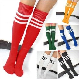 Wholesale ifsale Striped Knee High Unisex football Tube Sock Lacrosse Sport Long Stocking DH04