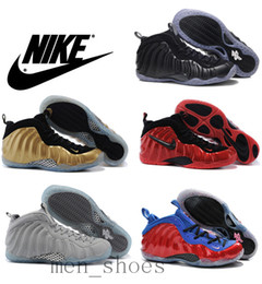 Wholesale Nike Air Penny Hardaway Foamposites One Men Basketball Shoes Foamposite Pro Galaxry Original Quality Nike Running Shoes Size