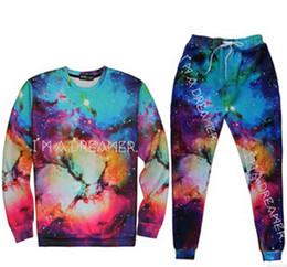 2016galaxy 3d Printed Hoodies pullover sport Suits sportwear men women's track suits sweatshirt pants Unsex Pullovers