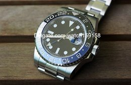 Wholesale Hot sell brand watch eta movement watches stainless steel wristwatch with date blue black ceramic bezel sapphire glass