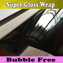 Wholesale High Glossy Vinyl wrap Shiny Black Wraps For Car wrapping Super Gloss Wrap Film size x30m Roll Fedex