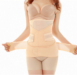 Wholesale 3in1 Waist Polyester Postpartum Abdominal Belt Recovery Belly abdomen pelvis Shapewear Breathable in1 Belly Special Offer Slim