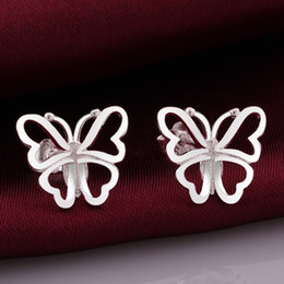 Wholesale Hot selling the new Valentine gift fashion design beautiful and elegant girls sterling silver zricon jewelry earrings