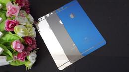 Plaque d'écran en Ligne-Pour iPhone 5/6 / 6plus trempé film de verre miroir de couleur de placage avant et après l'iPhone 5 membrane cellulaires protecteurs d'écran de téléphone