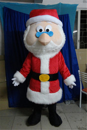 Wholesale 100 Real Picture A Christmas Father Mascot Costume Santa Claus Mascot Clothing With Red Coat For Adult To Wear