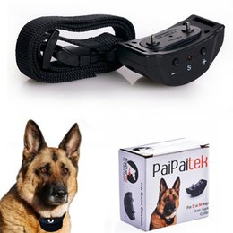 Wholesale Professional Pet Trainer Dog Button Control Electric Sound Static Shock Stimulus Collar For Effective Anti Bark Operated By Battery