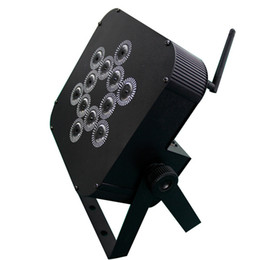 Free shipping LED Stage Lighting 12X15W RGBAW UV 6 in 1 Battery powered DMX Wireless LED uplighting