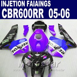 Purple one! Injection Molding for HONDA CBR 600 RR fairing 2005 2006 cbr600rr 05 06 cbr 600rr custom fairing WH5S